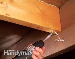 Squeaky Wood Floor Screws by How To Fix Squeaky Floors Family Handyman