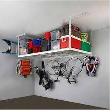 SafeRacks 4 ft x 8 ft Overhead Garage Storage Rack and