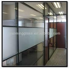 gaoming clear frosted gehärtete glasscheiben für die innere büro trennwand glas trennwand im wohnzimmer buy büro partition wohnzimmer glas