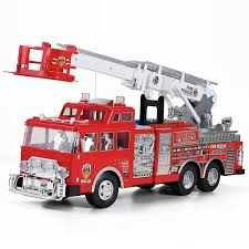Fire Engine Truck Remote Control RC Rescue Toy With Ladder 20