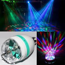 rgb e27 led stage light colorful rotating globe light bulb l