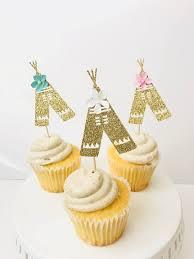 Tepee Cupcake Toppers Boho Tribal