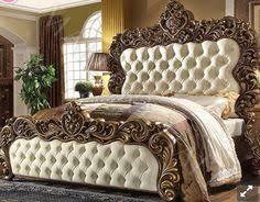 5 pc Queen Elizabeth renaissance style antique white king bedroom