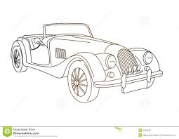 Antique Old Car Stock Illustration Image Of Automobile