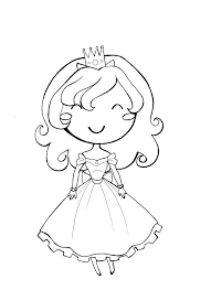 Full Image For Coloring Pages Adults Pdf Kids Little Girl Princess