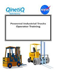 Powered Industrial Truck Training Book-2014 | Crane (Machine) | Safety