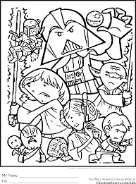 Star Wars Coloring Pages Collage Inside Christmas