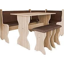 mirjan24 eckbankgruppe eckbank gruppe besteht aus kücheneckbank tisch 2x hocker esszimmer sitzbank eiche sonoma alfa 08