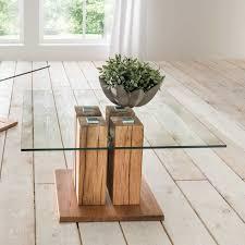 wohnzimmer couchtisch mit säulen glasplatte jetzt bestellen