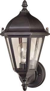 portfolio brayden 20 25 in h mystic black outdoor wall light for