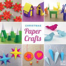 12 Christmas Paper Crafts With Printable Templates Make Your Own Decorations This Year