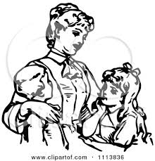 Single Parent Family Clipart Black And White ClipartXtras