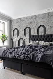arch deco marble tapete schlafzimmer vintage