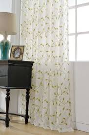 sheer leaf pattern drapes charming country style green
