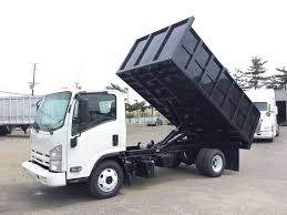 USED 2012 ISUZU NPR DUMP TRUCK FOR SALE #8693