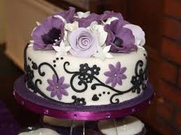 Black And Purple Wedding Cakes White