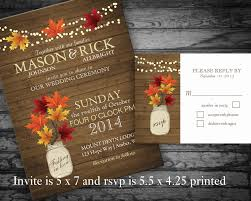 Rustic Fall Wedding Invitations Is Fascinating Ideas Which Can Be Applied Into Your Invitation 1