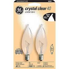 ge 40 watt 2 pack candelabra light bulbs 90807 ls plus