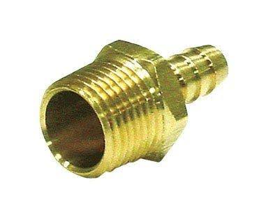 "JMF Hose Barb - in Lead Free Yellow Brass, 3/8"" X 1/4"" Mpt"