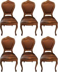 casa padrino luxus barock esszimmer set braun braun 45 x 47 x h 99 cm 6 handgefertigte massivholz esszimmerstühle mit echtleder barock