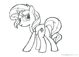 Baby My Little Pony Coloring Pages Girls Sunset Rarity