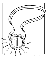 1 Gold Medal Coloring Page