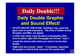 Double Jeopardy Game Template