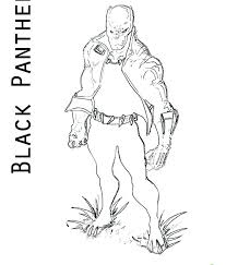 Black Panther Coloring Pages Printable Home Page Captain Marvel Movie Amazing Baby