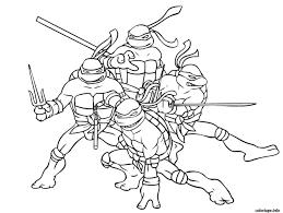 Coloriage Tortue Ninja 6 JeColoriecom