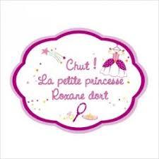 plaque de porte chambre bébé plaque de porte personnalisable princesse lili pouce stickers