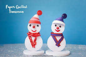 Paper Quilled Snowmen Craft For Kids