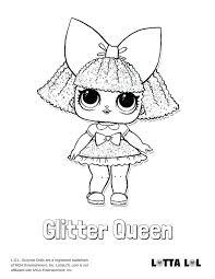 Lol Surprise Coloring Pages Glitter Queen Doll Page Unicorn