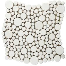 Home Depot Merola Penny Tile by Merola Tile Cosmo Bubble White 11 1 4 In X 12 In X 8 Mm