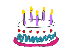 birthday cake candles five happy birthday