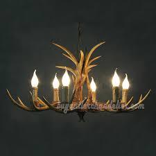 Buy 6 Cast Deer Chandelier Six Ceiling Lights Candelabra Rustic Style Pendant Lighting 30 Inches