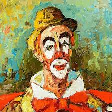 clown au banjo by robert le berger on artnet