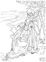 Coloring Pages For Kids Christianity Bible Ruth And Naomi