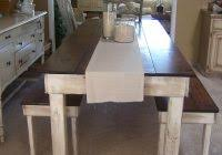 Kitchen Tables Gta With Rustic Homemade Farm Style Dining Room Table Benches Funky