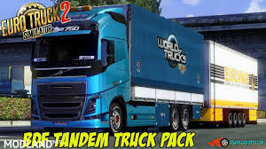 BDF Tandem Truck Pack V70 [1.27.x] Mod For ETS 2