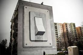 Building Sized Light Switch Painted on Apartment