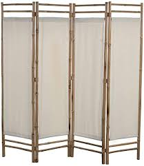 vidaxl raumteiler faltbar 4 tlg paravent trennwand spanische wand raumtrenner umkleide sichtschutz wohnzimmer bambus leinwand 160cm