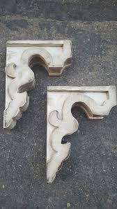 wood corbels rustic modern farmhouse shelf brackets