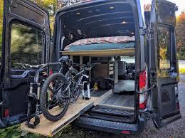 Ford Transit Camper Van Conversion Slide Out Bike