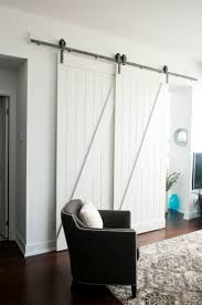 Bedroom : Appealing Cool Double Sliding Barn Doors Overlapping ... White Barn Door Track Ideal Ideas All Design Best 25 Sliding Barn Doors Ideas On Pinterest 20 Diy Tutorials Jeff Lewis 36 In X 84 Gray Geese Craftsman Privacy 3lite Ana Door Closet Projects Sliding Barn Door With Glass Inlay By Vintage The Strength Of Hdware Dogberry Collections Zoltus Space Saving And Creative