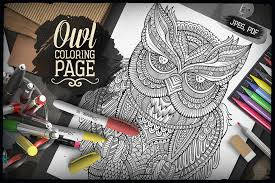 OWL COLORING PAGE Adult Coloring Printable Book