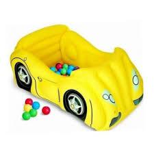 piscine a balle gonflable piscine voiture de course gonflable jaune 50 balles bestway