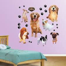 Fathead Baby Wall Decor by Amazon Com Fathead Dogs Graphic Wall Décor Home U0026 Kitchen