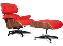 Replica Eames Lounge Chair - Red   CHICiCAT Vitra Eames Lounge Chair Design Charles Et Ray 1956 Mid Century Modern Replacement Steel Swivel Lcw Replica Wood Chair Plywood Group Diiiz Ottomann Polished Black Sides Walnut New Size Ottoman Modterior Usa Herman Miller And White Ash In Mohair Supreme With Classic Black 2019 Leather Walnut The Conran Shop