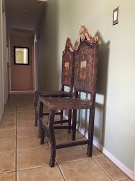 Pair Of Antique Carved Spanish Colonial Chairs | #1824267286