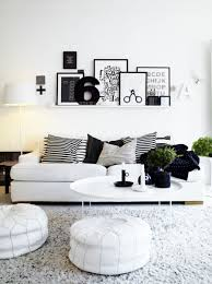 Bedroom Chic Small Living Room With Black White Wall Decoration Also Bean Bag Chairs And Design For Nice Looking The